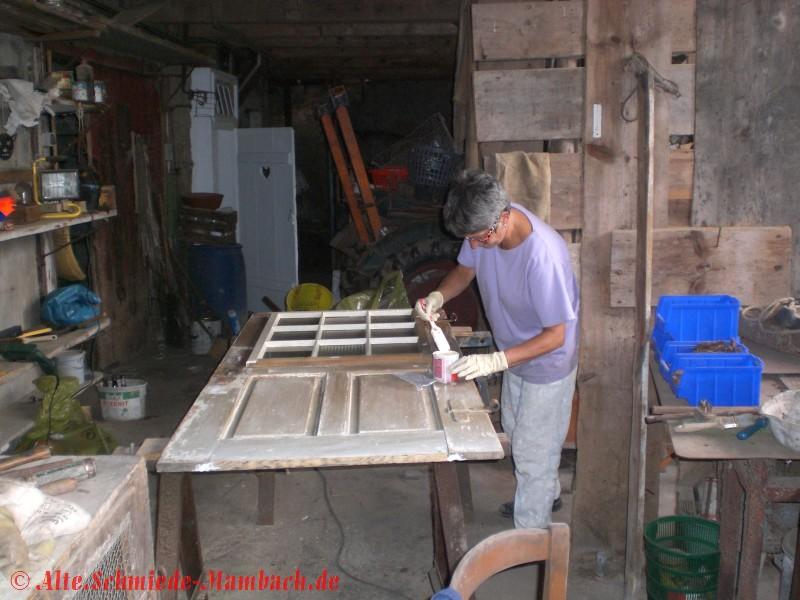 bilder restaurierung haus verein alte schmiede mambach e v. Black Bedroom Furniture Sets. Home Design Ideas