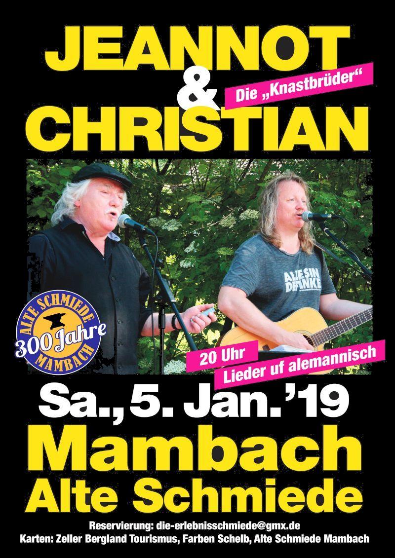 Konzert mit de Knaschtbrüeder 2019 @ Alte Schmiede Mambach | Zell im Wiesental | Baden-Württemberg | Deutschland